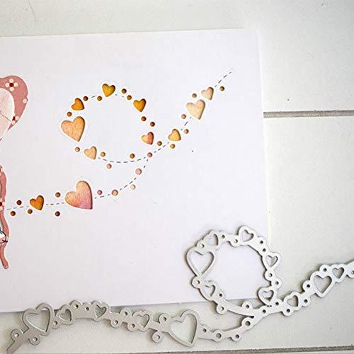 Gemini_mall Cutting Dies, Love Heart Cutting Dies Metal Embossing Stencil For Scrapbooking DIY Album Paper Card Art Craft Decor (Lace Heart)