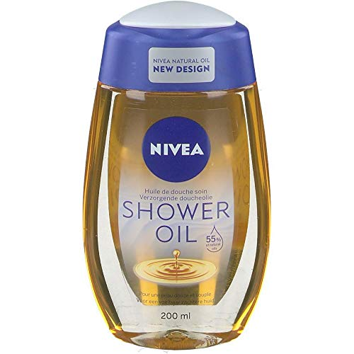 6 x NIVEA Natural Oil Duschöl - für trockene Haut - 200ml