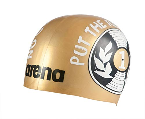 Arena Poolish Moulded, Cuffia Unisex Adulto, Disc Record Gold, Taglia Unica