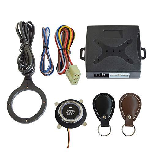ZHANGWY Yang Store Key de Cuero Auto Coche Alarma Motor Pulsador Start Stop Stop Stop RFID Bloqueo Cambio de Encendido Sistema de Entrada sin Llave antirrobo
