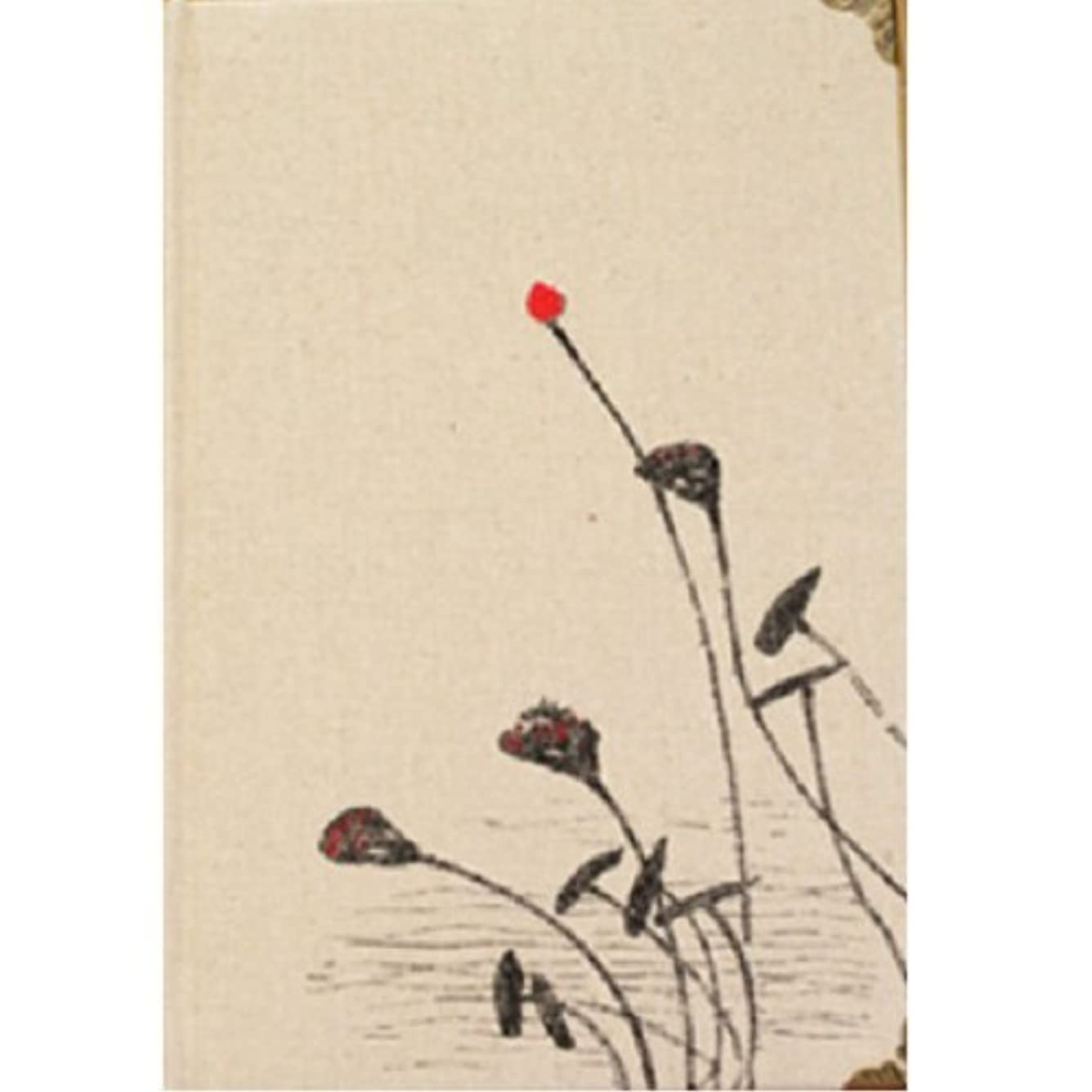 【Deli】 ノート 和風 デザイン シックな 蓮 布表紙 B6サイズ [並行輸入品]
