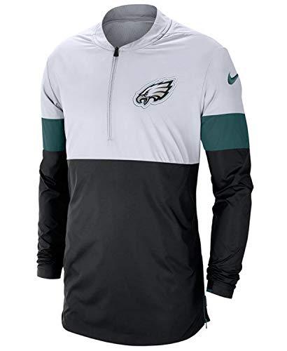 Nike Men's Philadelphia Eagles Lightweight Coaches Jacket White (X-Large)