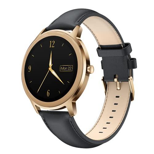 CatShin Smartwatch Mujer,Reloj Inteligente con Oxígeno Sanguíneo Presión Arterial Frecuencia Cardíaca,Pulsera Actividad Impermeable IP68 Podómetro,Reloj Inteligente para Hombre Mujer para iOS Android
