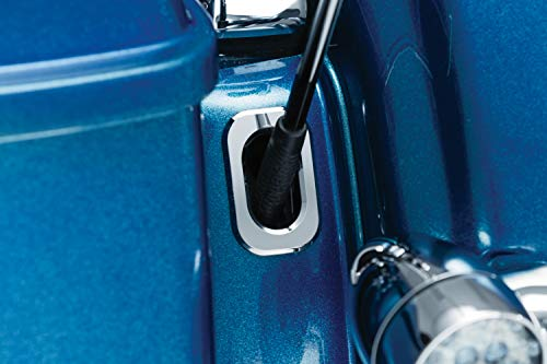 Kuryakyn 3106 Motorcycle Accessory: Antenna Housing Hole Accent for 2006-19 Harley-Davidson Motorcycles, Chrome, Pack of 1