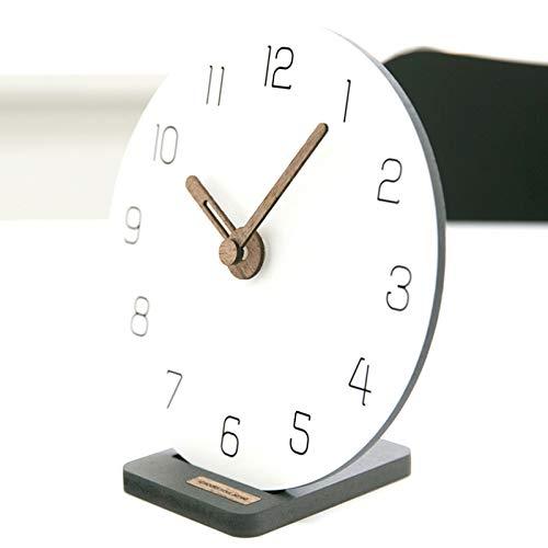 LIHUAN Reloj De Sobremesa Salón De Reloj De Mesa Decoración Simple Péndulo Reloj Creativo Pequeño Reloj,A-7inch