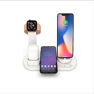 دياسو - شواحن الهاتف المحمول - سماعات الرأس لاسلكية الشحن أربعة في واحد حامل شحن لـ Apple Android type e-c (أبيض)