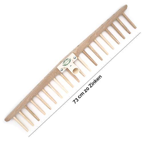 4betterdays Heurechenhaupt mit Holzzinken | Verschiedene Größen erhältlich | kompatibel mit 2,7 cm Stiel | Made in Austria 73 cm Rechenhaupt mit 20 Zinken