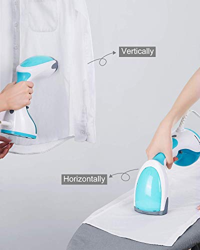 BEAUTURAL 1200-Watt Handheld Steamer for Clothes,30 Second Heat-up,8.79 Fluid Ounce Water Tank,Aqua