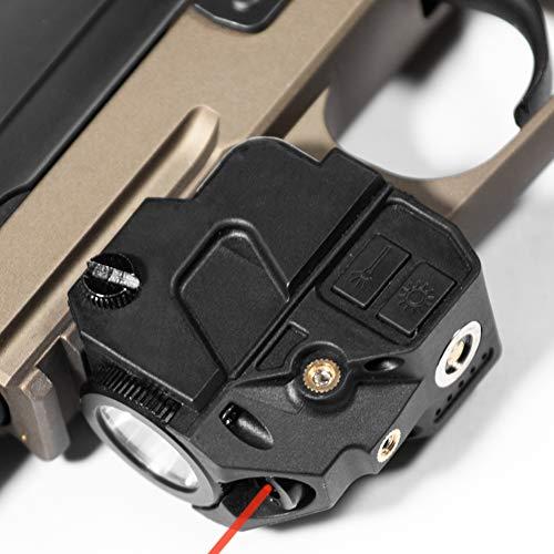 Firefly V2 Flashlight Laser Sight | Strobe Function | Combat Veteran Owned Company | Pistols | Rifles | 220 Lumens | Magnetic Charging | Laser Flashlight Combo For Handgun | Gun Light (Red-Laser)