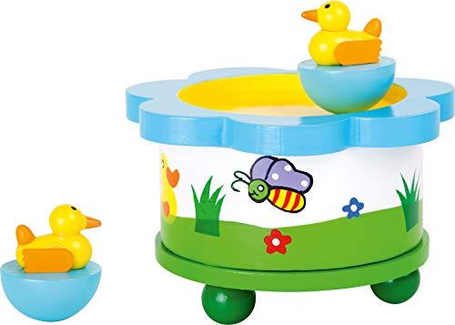 """Spieluhr """"Ententanz"""" aus Holz, Musikinstrument mit abnehmbaren Magnet-Figuren, tanzende Entchen und eine schöne Melodie verzaubern Babys und Kinder - 2"""