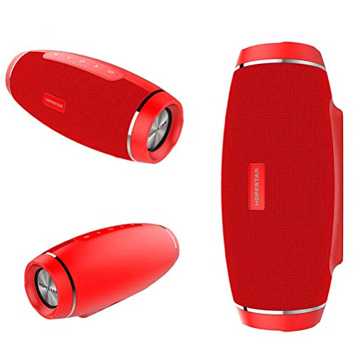 MESST Altavoz Bluetooth inalámbrico, subwoofer de la Tarjeta del rugbi, Audio Portable Impermeable al Aire Libre del paño, Ayuda para conectar Bluetooth, Tableta, Ordenador portátil,Red