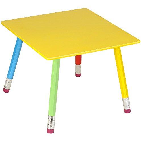La Chaise Longue 32-E1-008 Table Enfant Crayons géants Multicolore Bois et métal H43 x 55 x 55 cm
