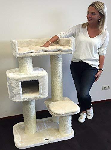 Rascador para gatos grandes Devon Rex Crema baratos arbol xxl maine coon gato adultos con hamaca gigante sisal muebles sofa escalador torre Árboles rascadores cama cueva repuesto medianos