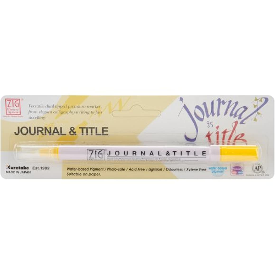 Zig MS3600P-050 Memory System Journal and Title Marker, Carded, Pure Yellow