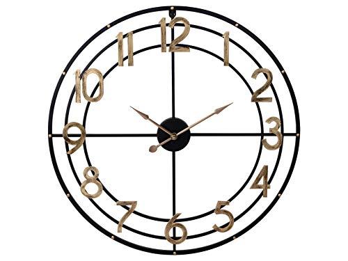 H & H wandklok, rond, metaal, 60 cm