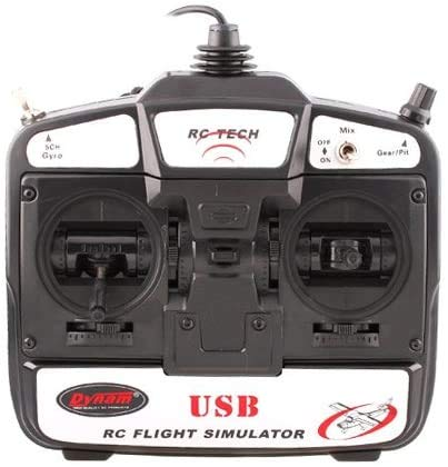 RC Tech 6 CH Flight Simulator Remote Control w/ Software for Helicopters/ Airplane