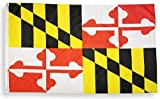 High Supply 3x5 Maryland Flag with Two Brass Grommets, Double Stitched Edges, and 100% Polyester Fabric, 3x5 Flag of Maryland 3x5