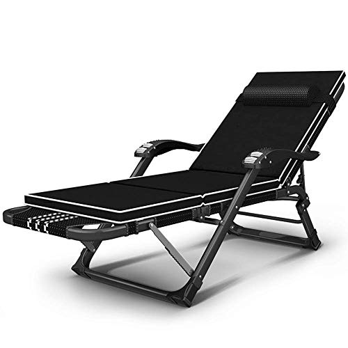 N /A Deck Chair Adjustable Chaise Lounge Chair Recliner Outdoor Folding Lounge Chair Chaise Lounge Chair Recliner Patio Pool Sun Loungers Chair (Color: Without Cushion)