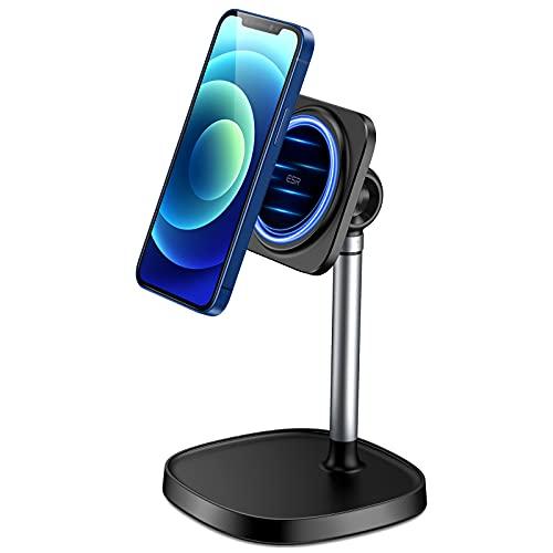 ESR HaloLock Soporte Teléfono para Escritorio, Soporte Magnético Compatible con MagSafe, Solo Compatible con iPhone 12/iPhone 12 Mini/iPhone 12 Pro/iPhone 12 Pro MAX, Negro