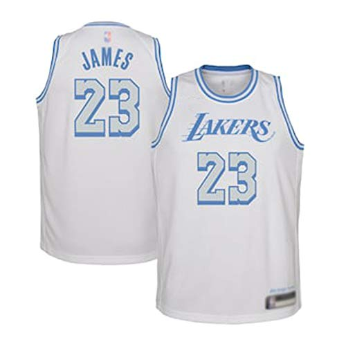 DWQ Lakers Basketball Jersey Camiseta para Hombre Chaleco James # 23 Black Mamba Jersey, Prensa Caliente Unisex sin Mangas Camiseta (S-XXL) XL