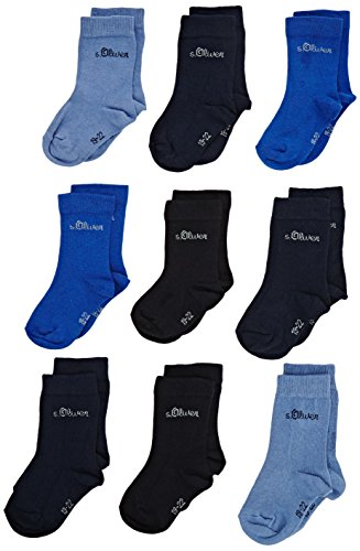 s.Oliver Kinder Socken, 9er Pack - Gr. 35-38 - Blue