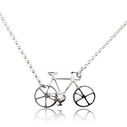Sovats fietsketting voor dames 925 sterling zilver gerhodineerd - Eenvoudige, stijlvolle en trendy ketting voor tieners en meisjes