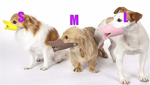 Interesting® 1pcs lindo pico de pato en forma de perro ajustable de silicona divertido Bozal Tamaño M hocico del perro de animal doméstico de la máscara corteza anti Bite (color al azar)