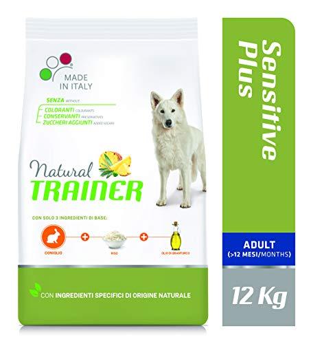 Trainer Natural Sensitive Plus - Cibo per Cani Medium&Maxi Adult con Coniglio-Riso-Olio 12kg
