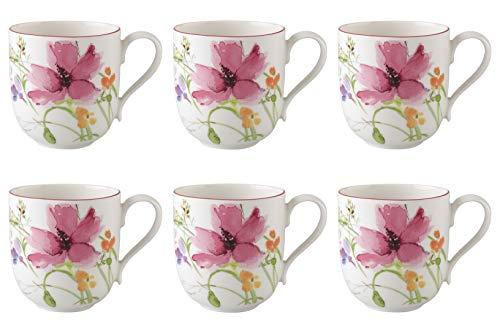 CreaFlor Home 6er Set Kaffeebecher Mariefleur Basic Porzellan Mehrfarbig, bunt 350ml Villeroy
