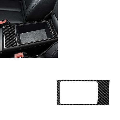 XUJINQI Marco de la decoración Interior del Coche Fibra de Carbono Apoyabrazos Panel de decoración de la Caja Pegatinas de Coches Modificación de Piezas, Apto for Audi A3 2014-2019
