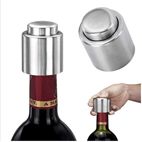 FENSIN Weinverschluss,Sektverschluss – Premium Sekt- und Champagnerverschluss aus dunklem Edelstahl – Exklusiv für Sekt und Champagner Flaschen (B)