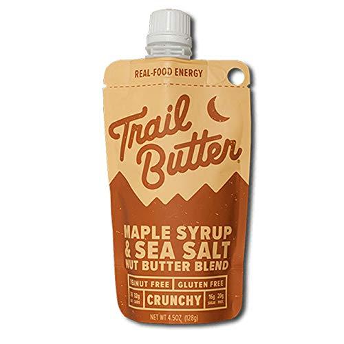 Trail Butter(トレイルバター) メープル&シーソルト / 4.5oz オールナチュラル・グルテンフリーの体に優しい補給食 トレイルランニング 補給食、行動食、エネルギー補給