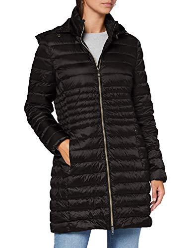 Geox Womens W Jaysen Quilted Jacket, Black, 42