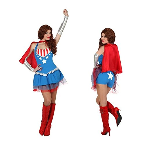 Atosa - 23126 - Costume - Déguisement Superhéroïne - Adulte - Taille 2