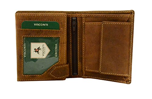 Visconti Hunter 708 Mens Coin & Id Holder Tri Fold Wallet