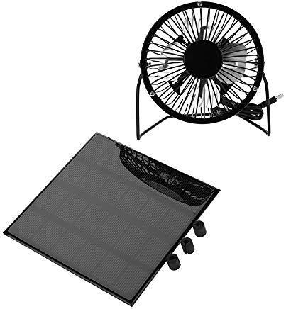 Solar Panel Powered Fan,3W 6V Outdoor Portable Mini Fan USB Cooling Fan for Travel Camping Fishing