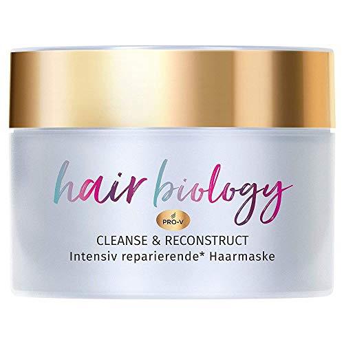 Hair Biology Cleanse & Reconstruct Haarmaske, 160ml, Bei Fettigem Ansatz und Geschädigten Spitzen, Haarpflege, Haarmaske, Haarkur, Haare Kur, Haar Mask, Rosenwasser, Haarkur Ohne Farbstoffe