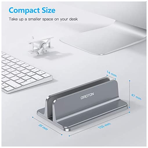 OMOTON Soporte Laptop, Atapta a Macbook Pro/Air, Huawei, DELL y Otros Portátiles y Netbooks, Vertical Soporte para… 2