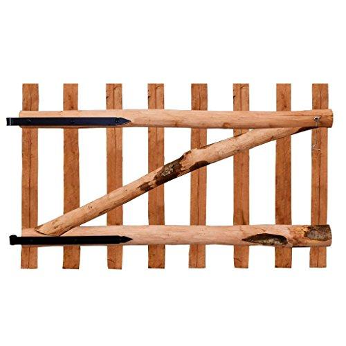 vidaXL Haselnuss Holz Imprägniert Zauntor 100x60cm Gartentor Staketenzaun Tor