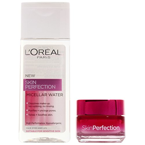 L'oreal paris - Skin perfection beauty box, crema hidratante y sérum concentrado corrector
