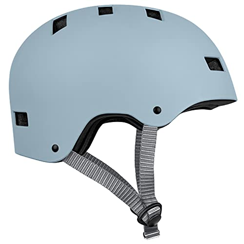Retrospec Dakota Bicycle / Skateboard Helmet for Adults - Commuter, Bike, Skate, Scooter, Longboard & Incline Skating - Impact Resistant & Premium Ventilation- Matte Crystal Blue