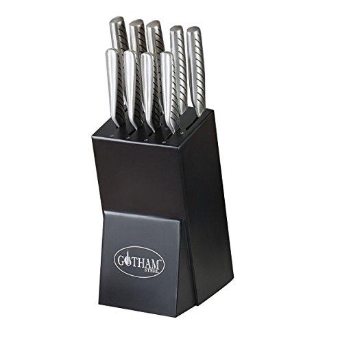 Gotham Steel 10 Piece Knife, 10Piece Set, Stainless Steel