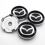 RHGEIUCY Cubierta para Rueda Luxury 4pcs 60mm Car Mazda Logo Center Center Caps Caps Caps Caps de Cubo para Mazda- 2 3 6 MX-5 MX-30 CX-3 CX-8 CX-9