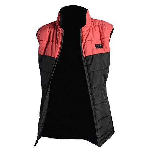 LYzpf Beheizte Weste Damen Herren USB wiederaufladbar Beheizbare Kleidung Winter Wärmer Bekleidung für Outdoorarbeiten & Tägliches Tragen,pink,XL