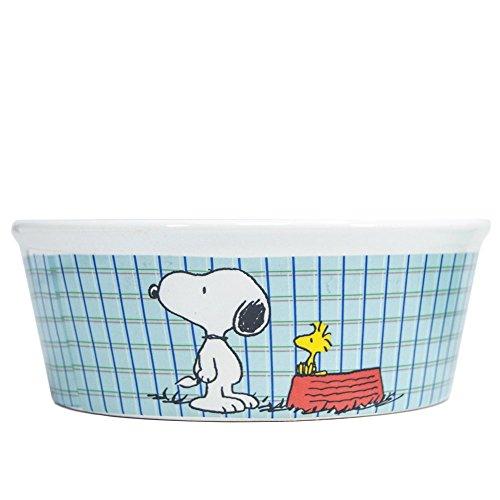 Peanuts Snoopy All Gone Futternapf für Hunde, schweres Steingut, 12,7 cm breit