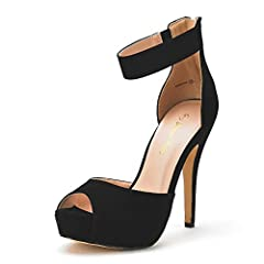 "FITTING TIPS: TRUE TO SIZE, WIDE WIDTH CUSTOMERS ORDER HALF SIZE UP. Heel height: 5"" (approx) Platform height: 1.25"" (Approx) TPR rubber out-sole Finished with a slightly padded faux leather insole"
