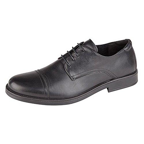 iMac - Zapatos Cubiertos Gibson de Cuatro Ojales para Hombre (44 EU/Negro)