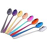 Do Buy Colorati Cucchiai Lunghi Acciaio Inox 18/10 Cucchiaini da Dessert e da Gelato,Cucch...