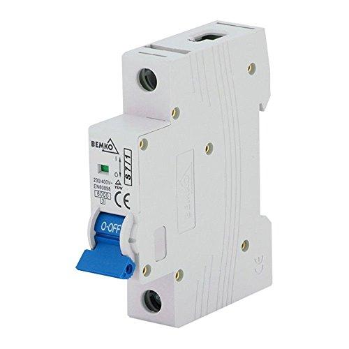 BEMKO Leitungsschutzschalter Sicherungsautomat LS-Schalter 2A - 63A B,C 1-polig 3-polig (C 1-polig 4A)