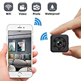Mini caméra Wifi cachée sans fil portable avec vision nocturne 30 m étanche pour intérieur/extérieur